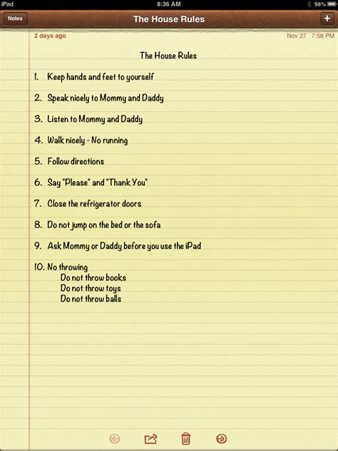 pin house rules template on pinterest