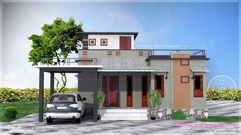 Single House Floor Plan by 1016 Sq Feet Small Budget House Kerala Home Design And