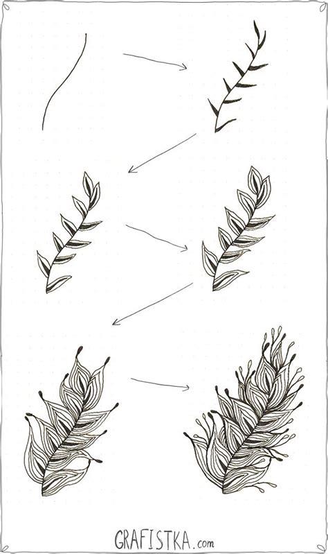 how to draw tangle doodle как нарисовать перо в стиле дудлинг 4 zentangle