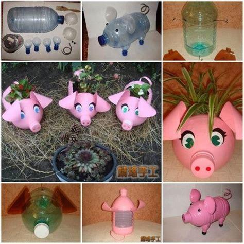 Reciclaje De Poma | macetero reciclado de botellas pl 225 sticas en forma de cerdito