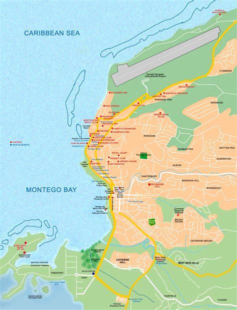 map us jamaica maps of montego bay