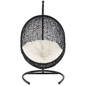 lexmod encase rattan outdoor patio swing chair suspension