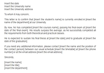 Confirmation Letter For Year Student Confirmation Letter Sle College Letters