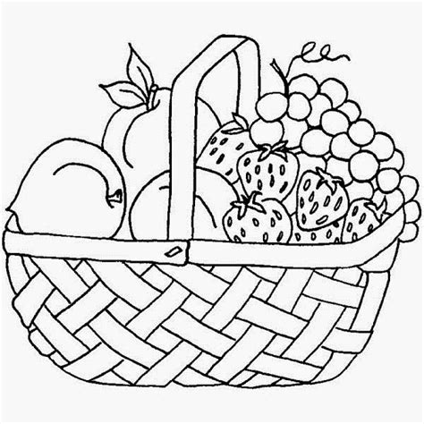 Colours Drawing Wallpaper Fruit Basket Pictures For Kids Fruits Basket Coloring Pages