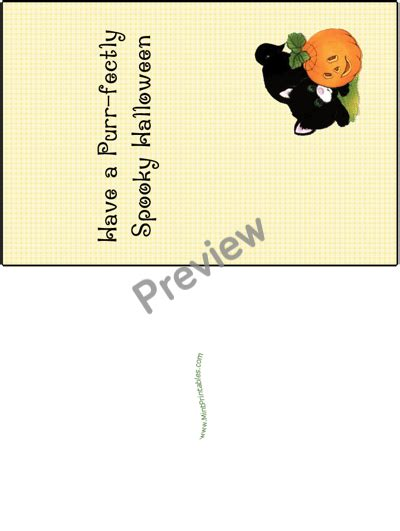 printable birthday cards halloween a purr fectly spooky printable halloween card with a kitten