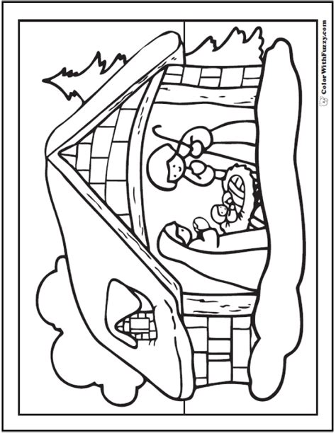 jesus manger or crib coloring pages holidays and observances nativity scene coloring page snowy christmas