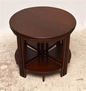 edwardian coffee table antique edwardian mahogany circular coffee table nest