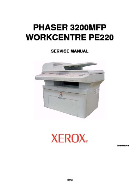 Printer Xerox Pe220 xerox phaser 3200 manual andcoget