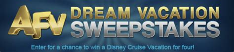 Disney Dream Vacation Giveaway - afv dream vacation sweepstakes win a disney cruise