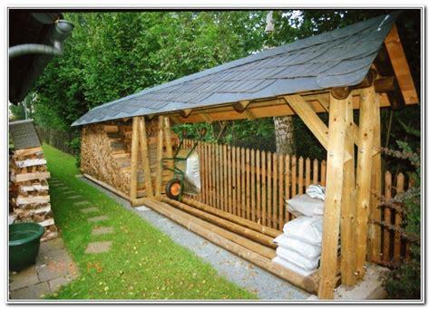 carport aus rundholz fixias rundholz gartenbank holz 044422 eine