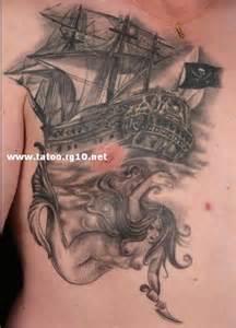 navio pirata e sereia desenhos para tatuagem