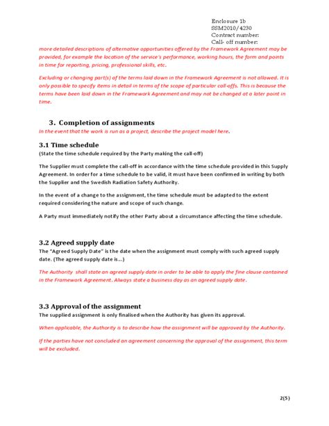 supplier agreement contract template best free home