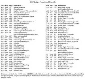 la dodgers home schedule dodgers schedule 2017
