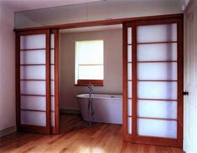 Japanese style sliding closet doors from user submitted