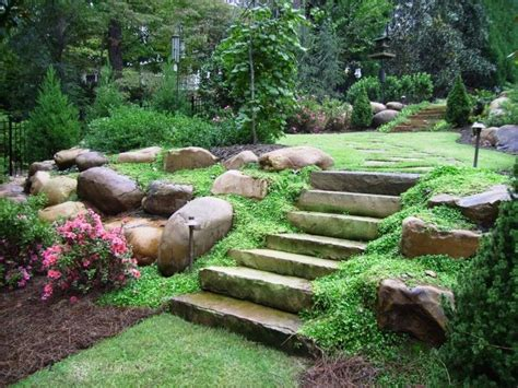 Landscaping Ideas For Large Backyards Slope Garden Design Ideas With Pathway Myideasbedroom