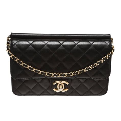 Chanel Beckham Designer And Chanel Quilted Clutch by Chanel Black Quilted Lambskin Crossing Times Crossbody