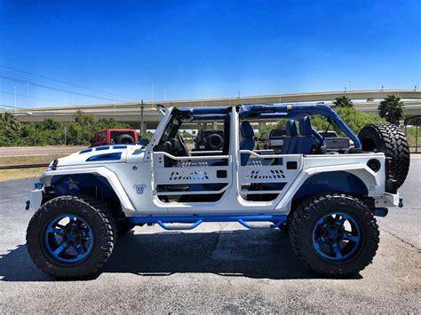 2018 jeep wrangler lifted 2018 jeep wrangler jk unlimited custom white n blue lifted
