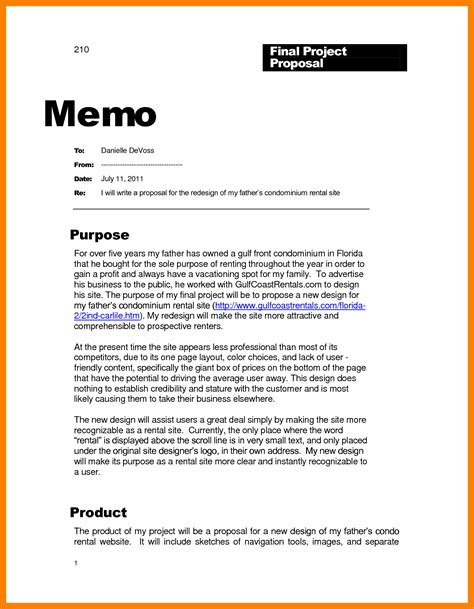 7 informal memo template resume sections