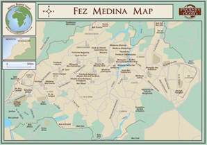medina map fez insider s guide to fez fes morocco
