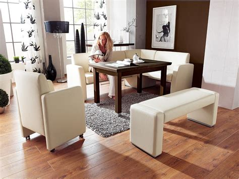 Kitchen Booth Target Nook Dining Table Set White With Brown Table 7