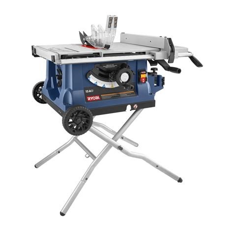 ryobi bench saw ryobi zrrts31 10 quot table saw with wheeled stand ebay