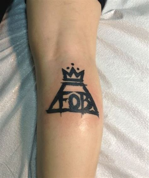 fall out boy tattoo fall out boy danielle fynbo though we would