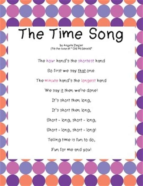 themes in old story time cute lyrics to remember the minute hour hands teaching