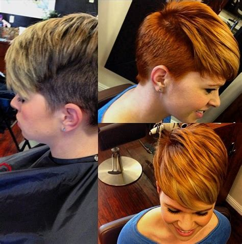 short layered haircut  winter short cut  copper
