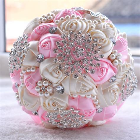 Wedding Bouquet With Ribbon by New Silk Ribbon Artificial Bridal Flowers