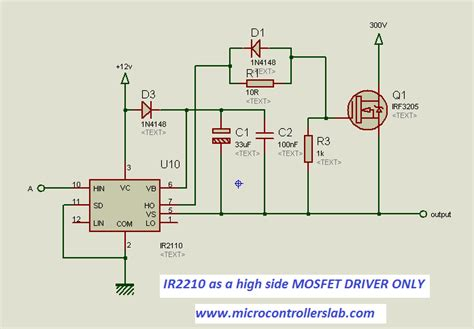 ir2101 bootstrap capacitor how to use mosfet driver 1r2110