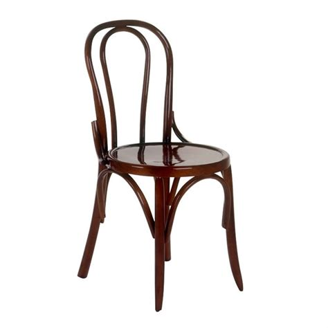 chaise bistro chaise bistrot jairo en bois h 234 tre noyer achat vente