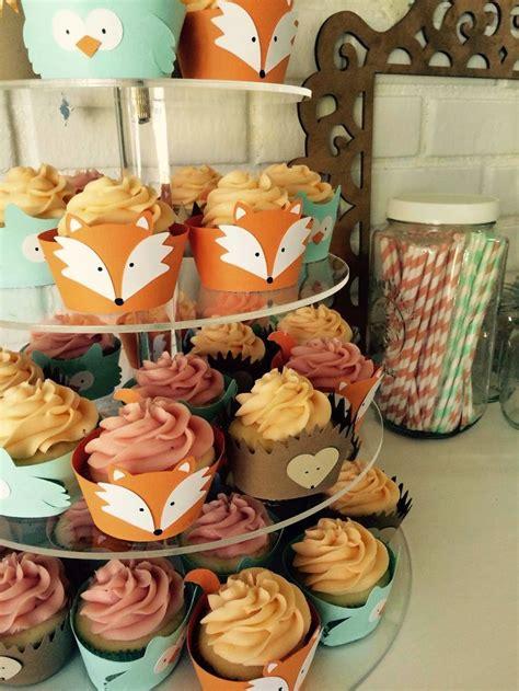 Woodland Creatures Cupcakes Fox Owl Hedgehog One  Ee  Year Ee