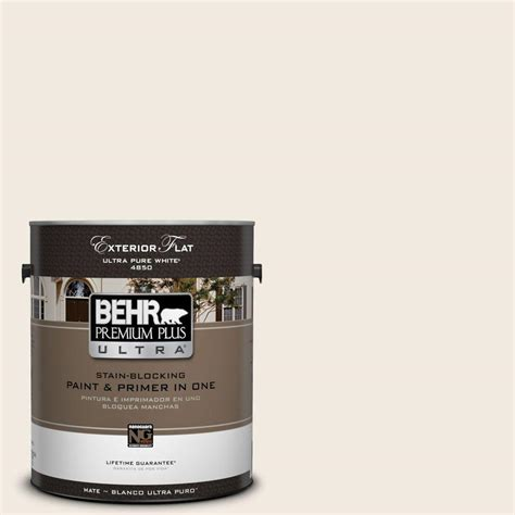 behr premium plus ultra 1 gal 12 swiss coffee flat exterior paint 485001 the home depot