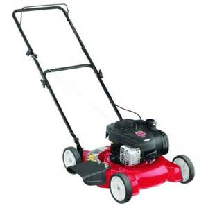 lawn mower in home depot mtd 20 in 125cc ohv briggs stratton gas walk