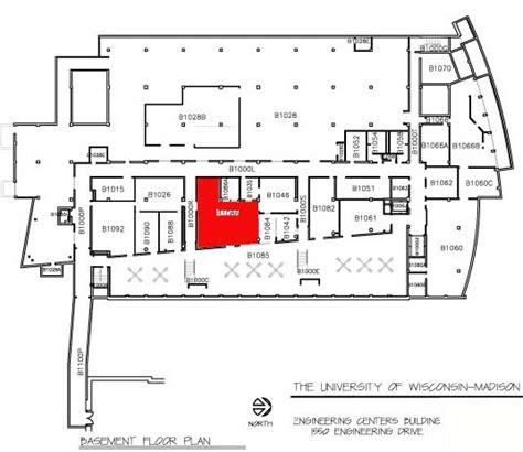 engineering floor plan ecb basement floor plan student shop uw madison