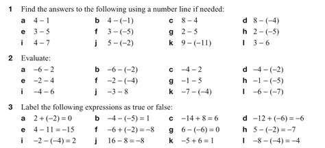 subtracting positive and negative numbers worksheet addition and subtraction of negative numbers worksheet integers worksheetsintegers sprint