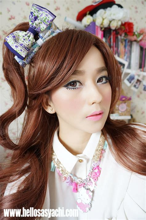Softlens May sasyachi diary gyaru makeup tutorial ibb muc mei