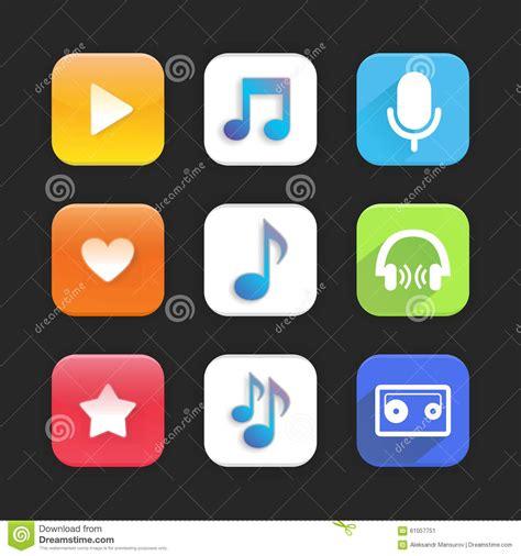 music themes apps music app stock illustration image 61057751