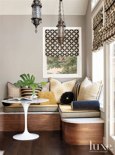 banquette seating adds comfort  luxury  numerous