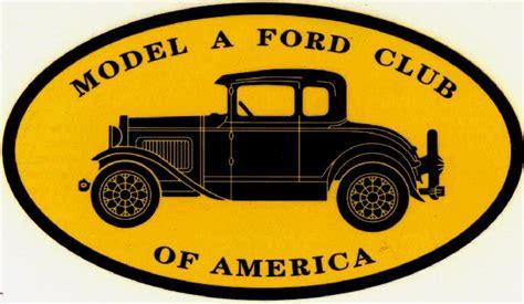 Model A Ford Club Of America by Mafca Static Decal Model A Ford Club Of America