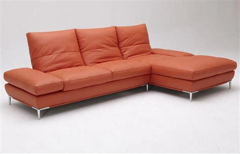 Orange Modern Sofa Dali Vg Modern Orange Sectional Sofa Leather Sectionals