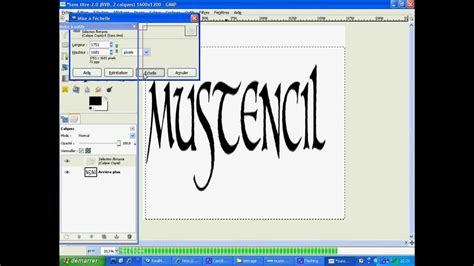 dafont gimp how to make stencil letters in gimp youtube