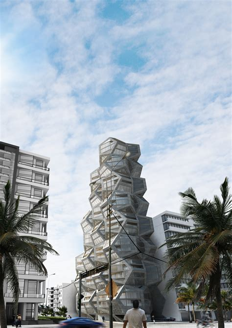 tammo prinz architects propose platonian tower  lima