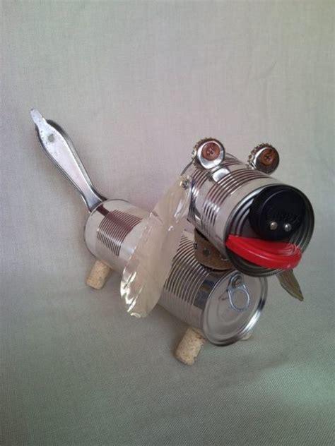 Desk Clock Gift Recycled Dachshund Dog Puppy Junk Sculpture Home Decor 2