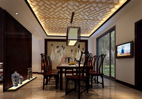 Oriental dining room concept by applying japanese lamps on