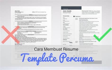cara membuat cv elektronik cara membuat resume dan template percuma