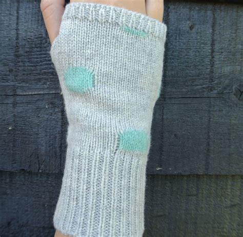 knitted wrist warmers personalised knitted wrist warmers by ambermayde