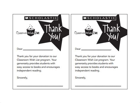 Thank You Note For Donation After Sle Thank You Note 9 Free Documents In Word Pdf