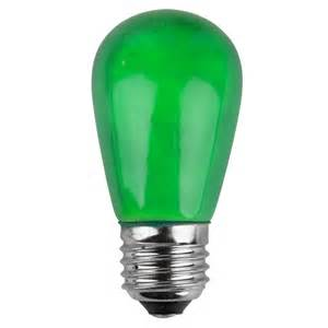 T50 S14 Green Opaque Bulbs E26 Medium Base Box Of 20 Patio Light Bulbs