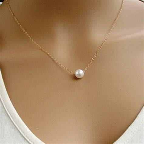 Kalung Mutiara Pearl Imitation Pendant Necklace Pearl Pendant Necklace Baigcho